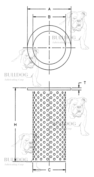 Bulldog Fabricating Strainer Spec Sheet
